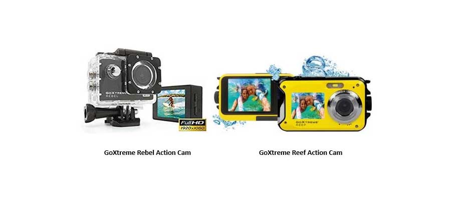 GoXtreme launches Rebel, Reef action cameras