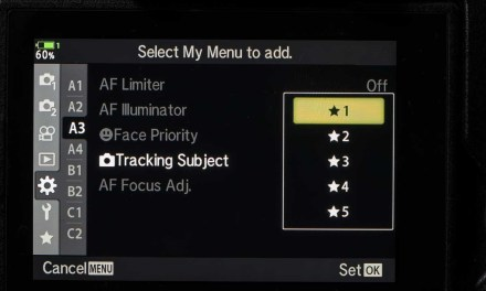 How to customise the Olympus OM-D E-M1X My Menu