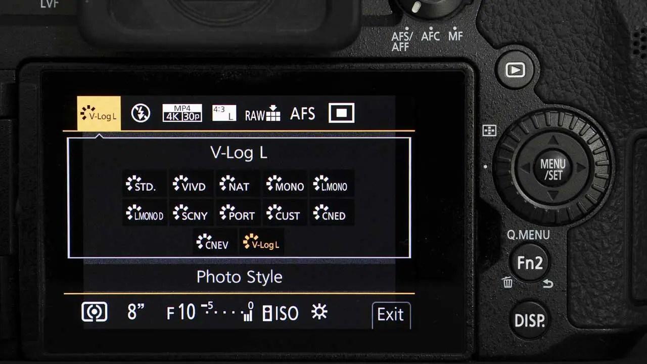 Panasonic G90 MenU screen