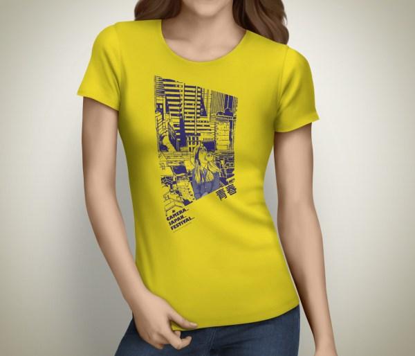 CameraJapan T-Shirt Female Yellow