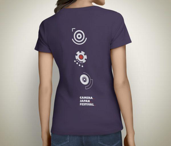 Camera Japan 2021 T-shirt Female Purple Back Mechanical