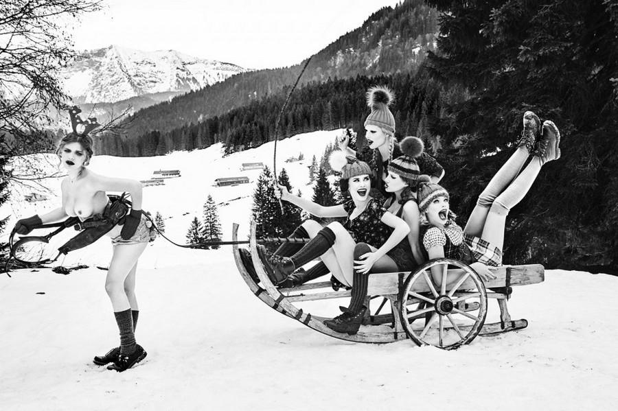 Баварские фантазии в эротических фотографиях Эллен фон Унверт 16