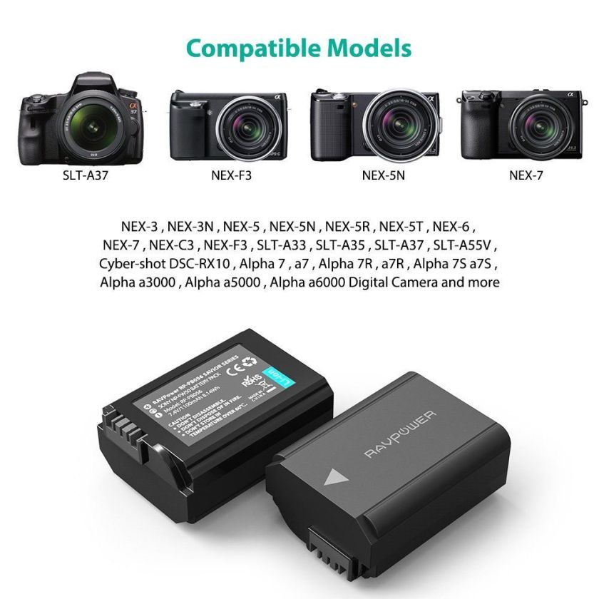 RAVPOWER แบตเตอร์ Sony NP-FW50 (4)