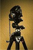 medium format camera on tripod