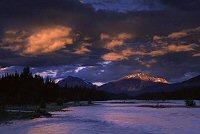 Colds over river in Jasper, Albert, photograph by Brent Vanfossen