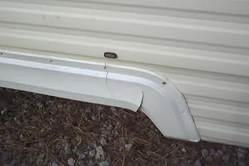 Cracked plastic fenders or flashing on our trailer after 5 years in storage
