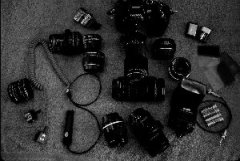 photograph of camera equipment