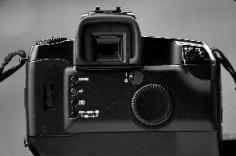 Back of EOS camera body