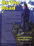 Outdoor and Nature Photography Magazine, article about taking your camera on the road.