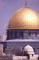 The Dome of the Rock in Jerusalem, scene of the starting riots of the Palestinian Intifada, photo by Lorelle VanFossen