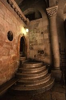 Stairs to the crucification in the Holy Sepulchre in Jerusalem, photograph by Brent VanFossen