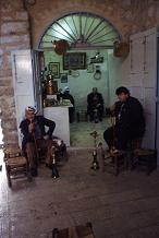 Men in the Arab section sit around and smoke hassish and talk for hours in the cafes. Photo by Lorelle VanFossen