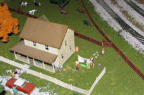Farm of the model train exhibit