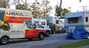 Shady Acres Campground is packed with insurance adjusters, rescue and repair crews, photograph by Lorelle VanFossen