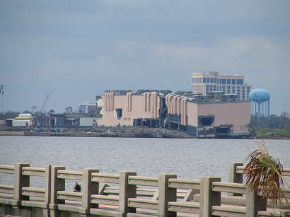 Biloxi hotel split by hurricane katrina