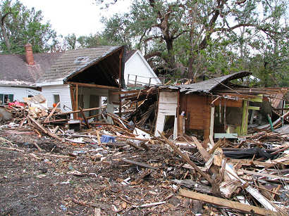 Ocean springs, mississippi, destroyed waterfront homes
