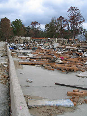 Destroyed waterfront apartment complex - Ocean Spring, Mississippi