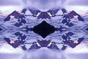 Matanuska Glacier Alpenglow II photoquilt, photo by Brent VanFossen