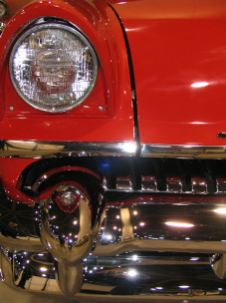 old car red with headlight closeup antique mobile alabama lorelle vanfossen