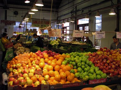 granville island market vegetables 2 by lorelle vanfossen