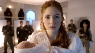 doctor who amy pond with baby melody