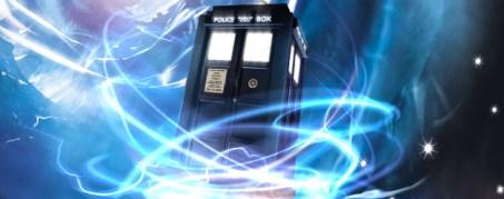 doctor who - tardis with swirls
