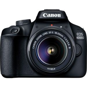 Canon Eos 4000d Dslr Camera Body With 18 - 55mm Lens + Free Memory Card