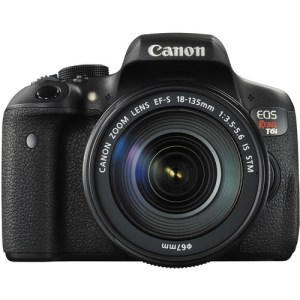 Canon EOS Rebel 750D/T6i DSLR Camera with 18-55mm Lens