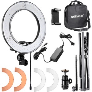 "LED Ring Light with Stand Without Battery Space (18"")"
