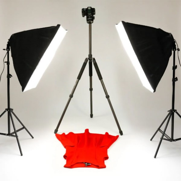 Photo Video 5in1 50x70cm Softbox Kit Bulb Head Multi-Holder Professional Continuous Light System
