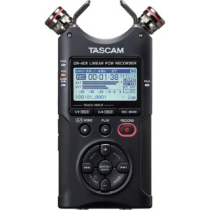 Tascam DR-40X 4-Channel / 4-Track Portable Audio Recorder