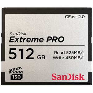 SanDisk 512GB Extreme PRO CFast Memory Card