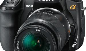 Sony DSLR-A200 Manual User Guide PDF 1