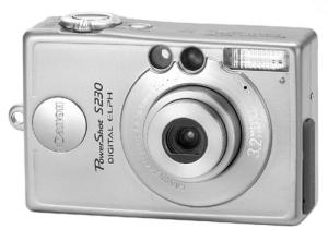 CANON POWERSHOT S230 Digital ELPH Manual for Canon's Compact 2MP Digital Camera