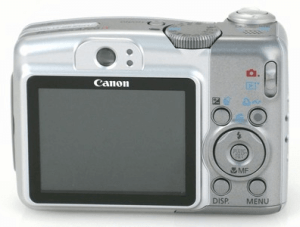 Canon PowerShot A720 IS manual: camera backside