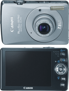 Canon PowerShot SD750 Manual, a Manual of Canon Silverish Compact 1