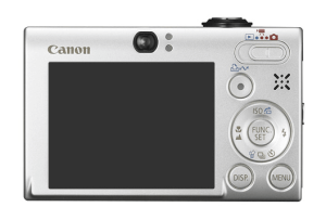 Canon PowerShot SD770 IS manual: camera backside