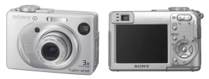 Sony DSC-W1 Manual (camera back and front side)