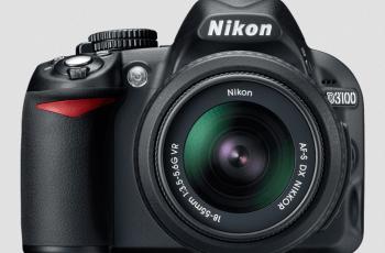Nikon D3100 Manual - camera front side