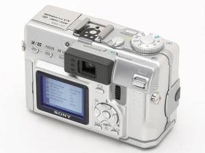 Sony DSC-V1 Manual - camera backside