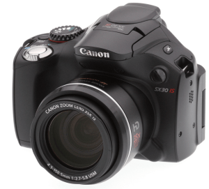 Canon PowerShot SX30 IS Manual - camera front face