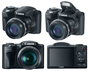Canon PowerShot SX500 IS Manual - camera sides