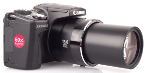 Canon PowerShot SX500 IS Manual - camera with lens opened