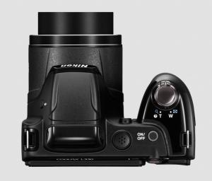 Nikon CoolPix L330 Manual - camera top side