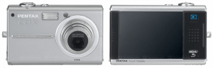 Pentax Optio T20 Manual - camera front and back sides