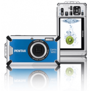 Pentax Optio W80 Manual-camera front and back side