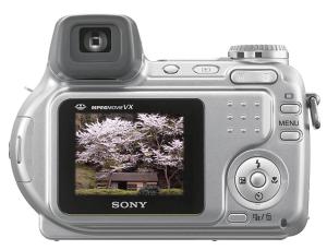 Sony Cyber-Shot DSC-H2 Manual - camera back side