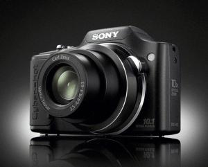 Sony Cyber-Shot DSC-H20 Manual - camera front face