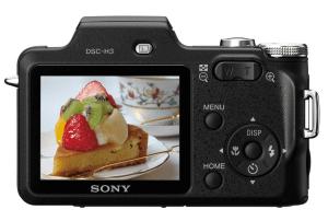 Sony Cyber-Shot DSC-H3 Manual - camera back side