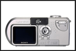 Sony Cyber-Shot DSC-P9 Manual - camera backside